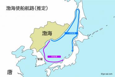 渤海使船航路